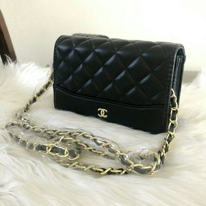 Limited Chanel Chain Gold Cross body Flap bag